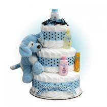 Blue Barking Sparky 3-Tier Diaper Cake