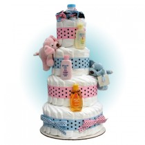 Sparky Twins 4-Tier Diaper Cake